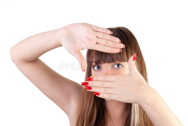 χέρια πλαισίων στοκ φωτογραφία με δικαίωμα ελεύθερης χρήσης