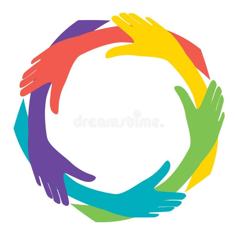 χέρια ποικιλομορφίας ελεύθερη απεικόνιση δικαιώματος