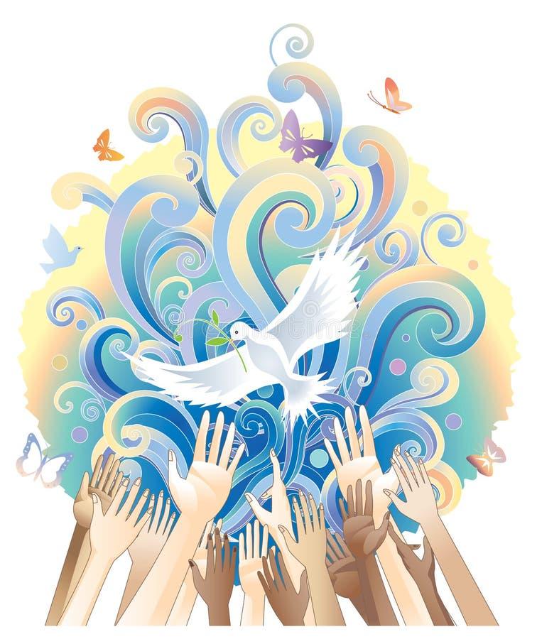 χέρια που αυξάνονται ελεύθερη απεικόνιση δικαιώματος