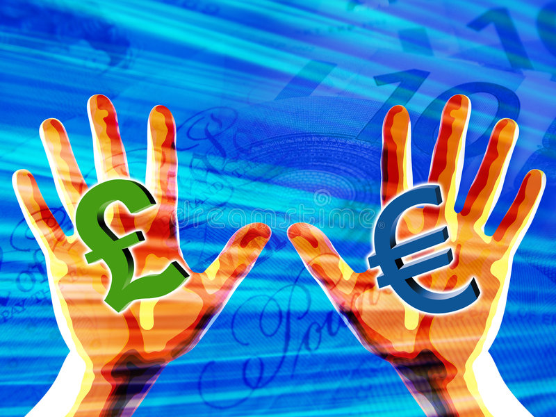 χέρια που κρατούν τα σύμβο&la διανυσματική απεικόνιση