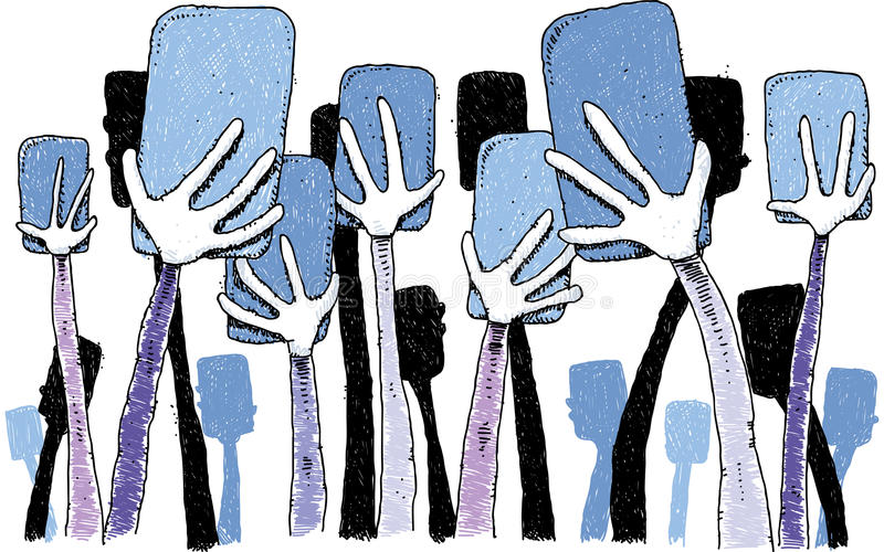 χέρια που κρατούν τα τηλέφ&omega ελεύθερη απεικόνιση δικαιώματος