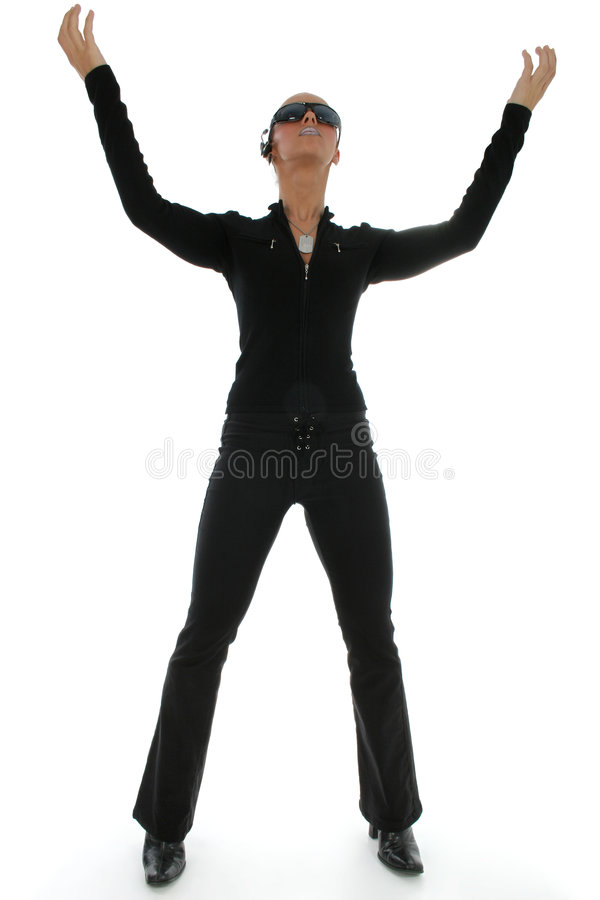 χέρια που στέκονται επάνω &tau στοκ εικόνα