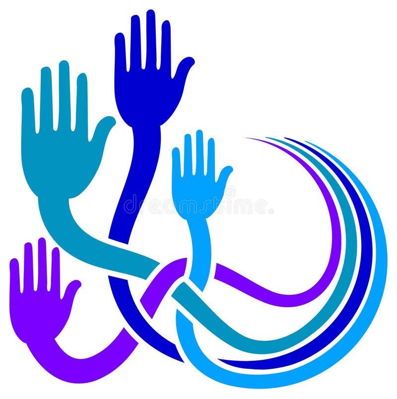 χέρια που συνδέονται απεικόνιση αποθεμάτων