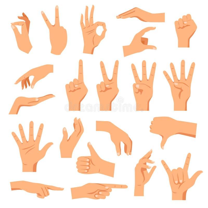 χέρια που τίθενται διανυσματική απεικόνιση