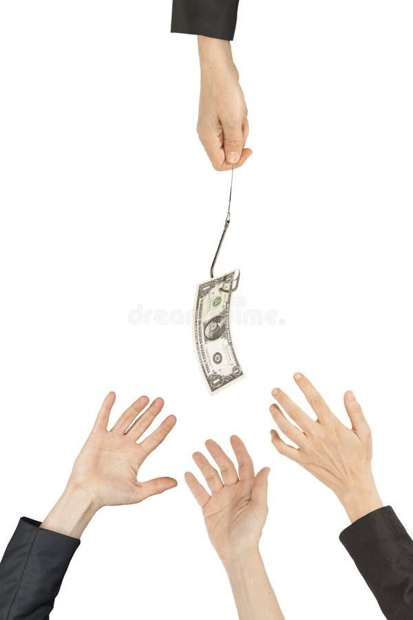 Χέρια που φτάνουν για τα χρήματα στοκ φωτογραφία με δικαίωμα ελεύθερης χρήσης