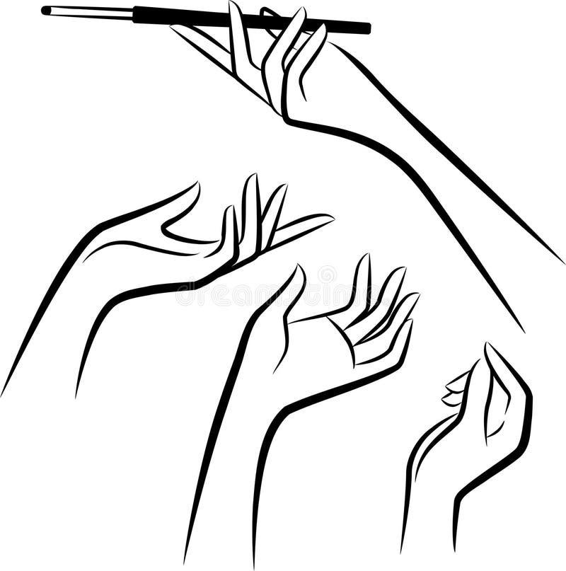 χέρια πυροβόλων δυαδικών & ελεύθερη απεικόνιση δικαιώματος