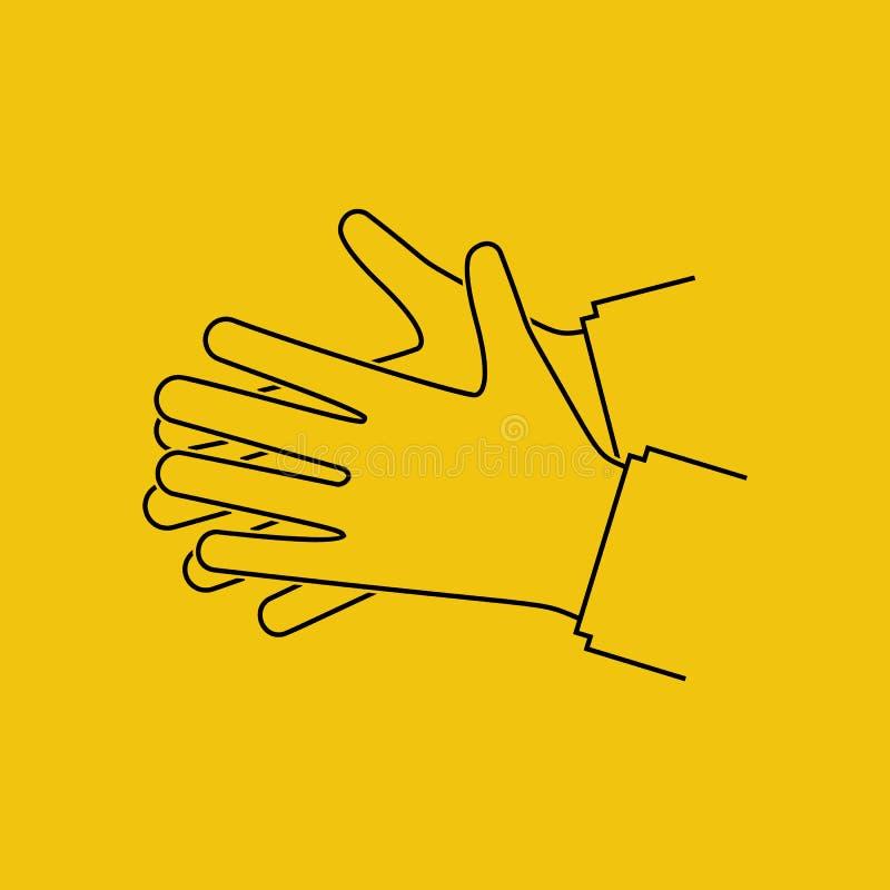 Χέρια πλυσίματος Μαύρο εικονίδιο σκιαγραφιών διανυσματική απεικόνιση