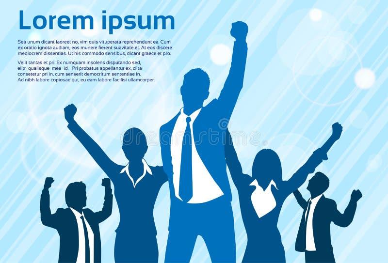 Download Χέρια σκιαγραφιών εορτασμού επιχειρηματιών επάνω Διανυσματική απεικόνιση - εικονογραφία από χέρι, αντίγραφο: 62723736