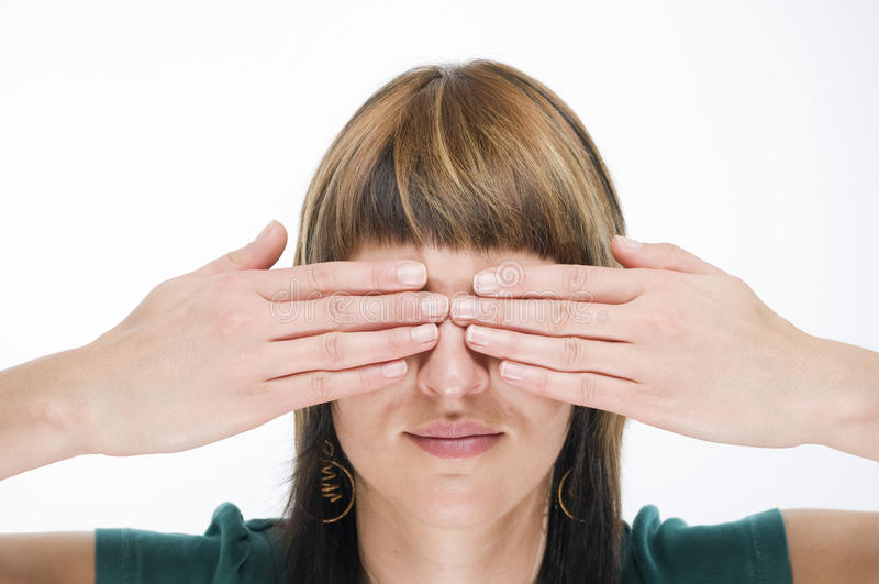 Χέρια στα μάτια στοκ φωτογραφία με δικαίωμα ελεύθερης χρήσης