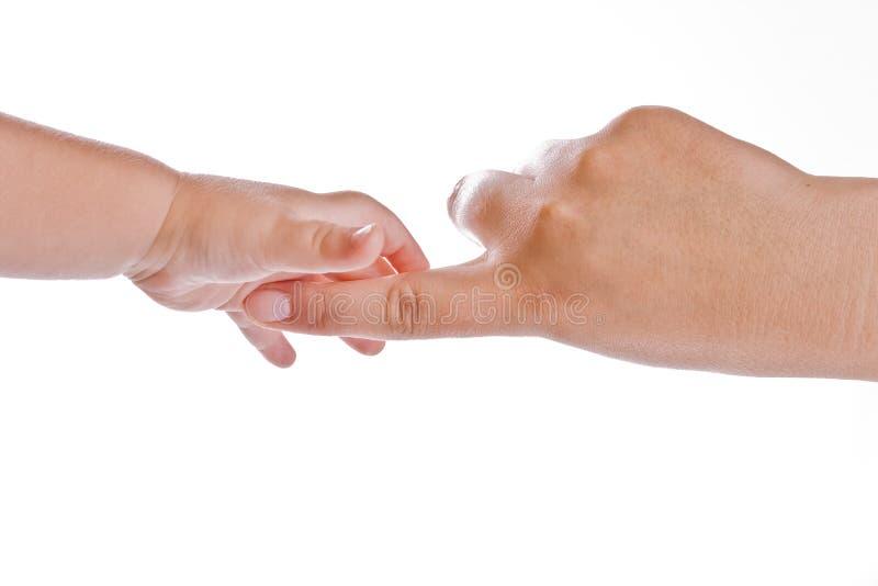 Χέρια στο λευκό στοκ φωτογραφία με δικαίωμα ελεύθερης χρήσης