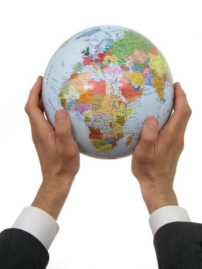 χέρια σφαιρών επιχειρηματιών που κρατούν το s στοκ φωτογραφία με δικαίωμα ελεύθερης χρήσης