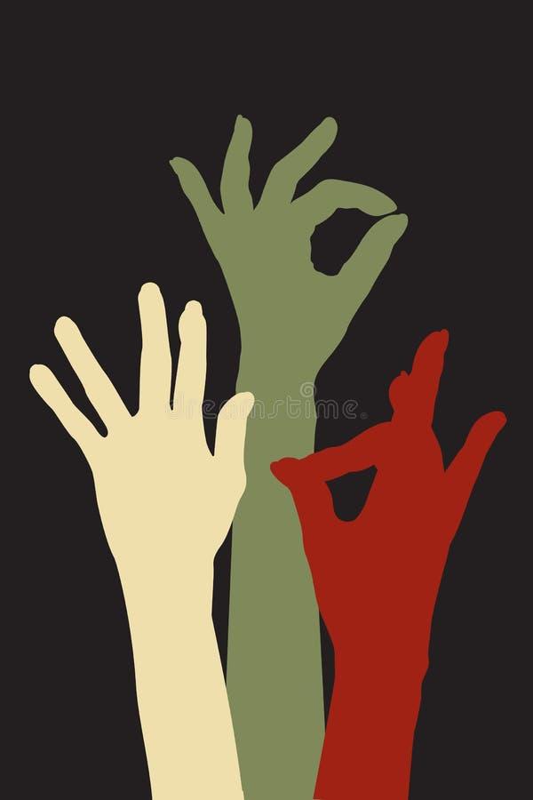 Χέρια της αποδοχής διανυσματική απεικόνιση