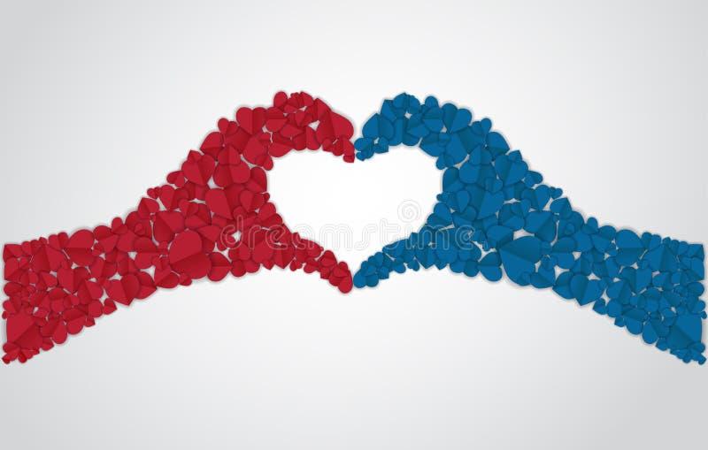 Χέρια φιαγμένα από καρδιές ελεύθερη απεικόνιση δικαιώματος