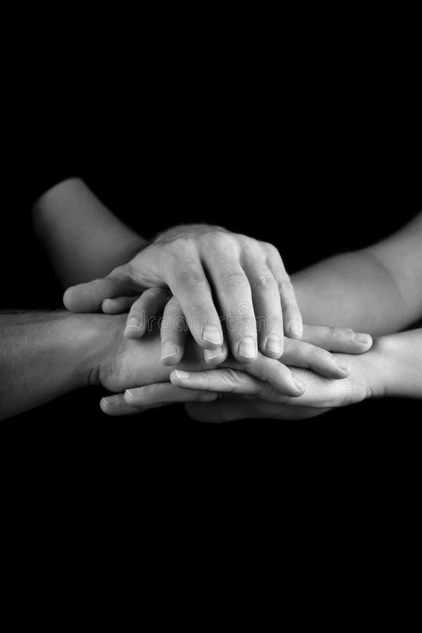 χέρια φροντίδας στοκ εικόνα