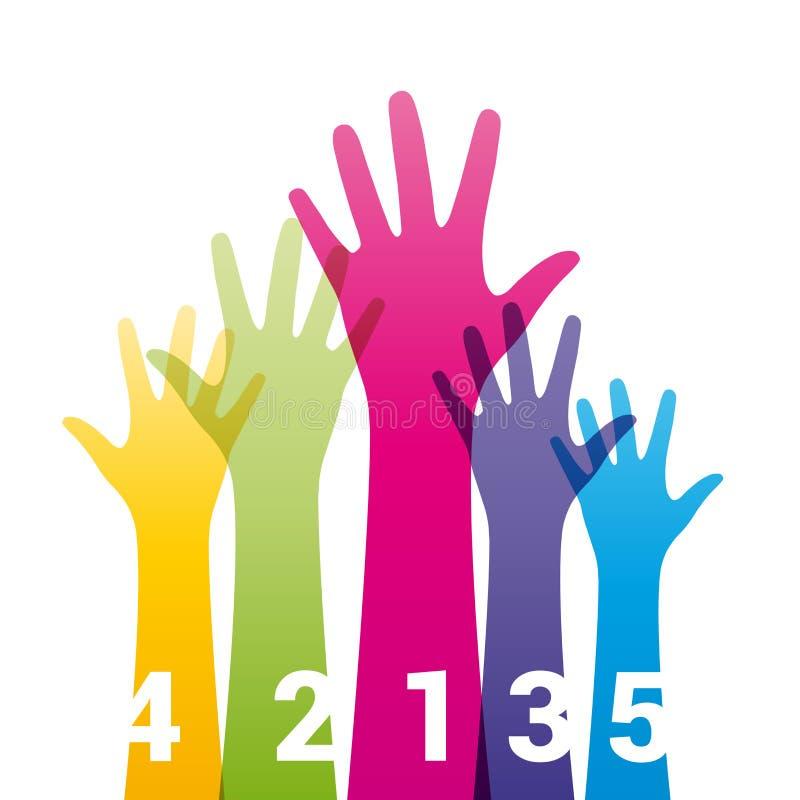 Χέρια χρώματος ελεύθερη απεικόνιση δικαιώματος