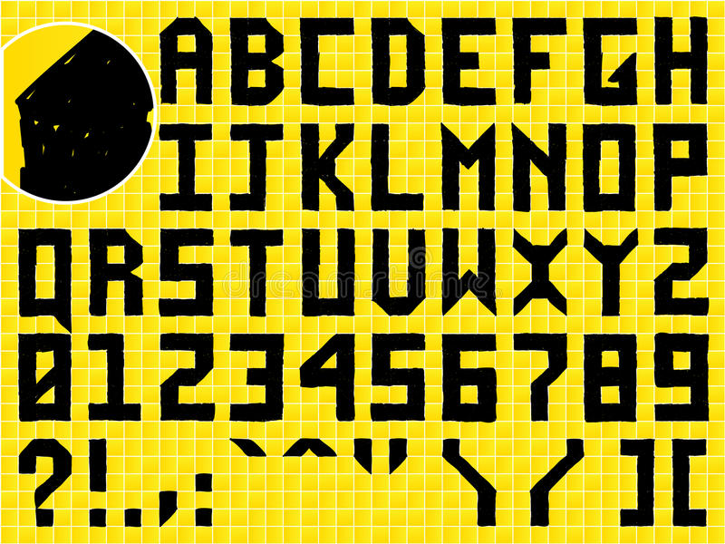 χέρι αλφάβητου doodle - που γίνε&ta διανυσματική απεικόνιση