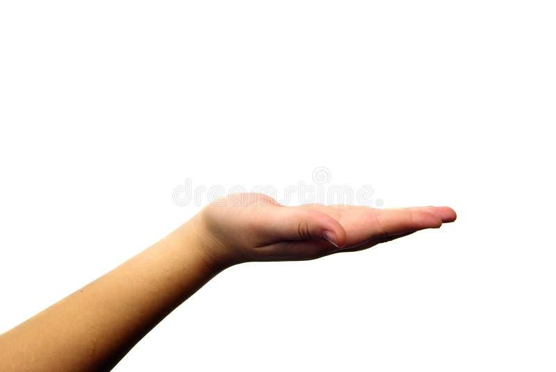 χέρι ανοικτό στοκ φωτογραφίες