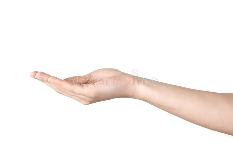 χέρι ανοικτό