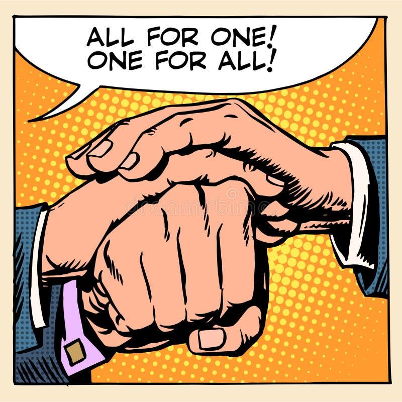 Χέρι ατόμων αλληλεγγύης φιλίας διανυσματική απεικόνιση