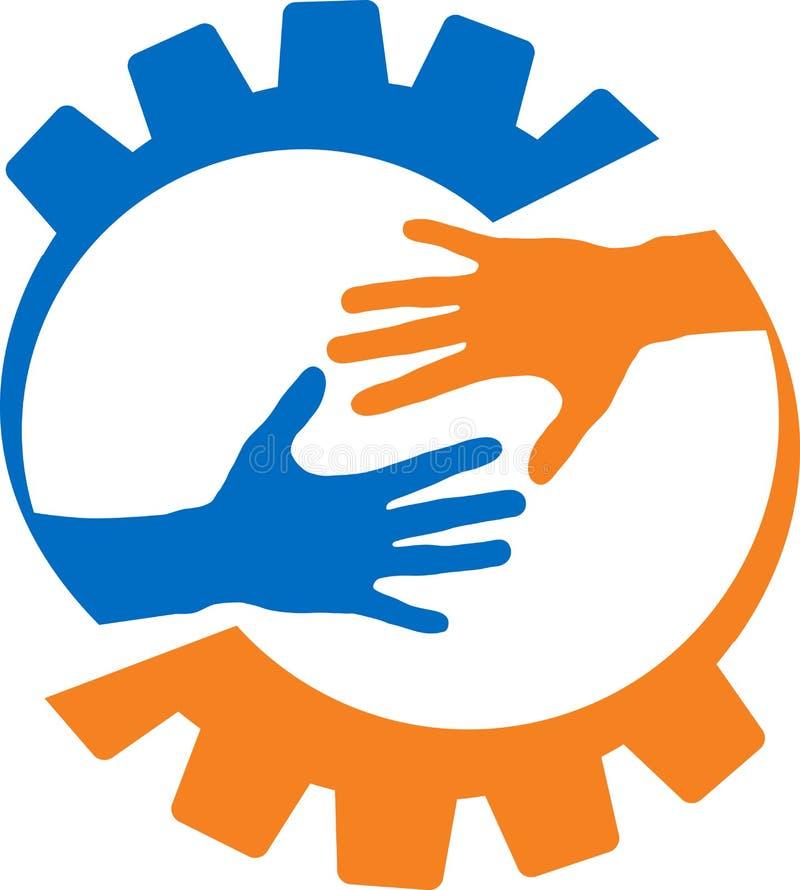 Χέρι βοηθείας εργοστασίων διανυσματική απεικόνιση