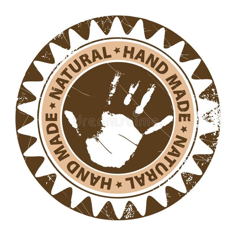χέρι - γίνοντα γραμματόσημο ελεύθερη απεικόνιση δικαιώματος