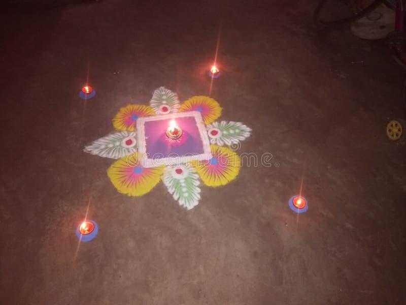 Χέρι - γίνοντα rangoli στοκ εικόνες
