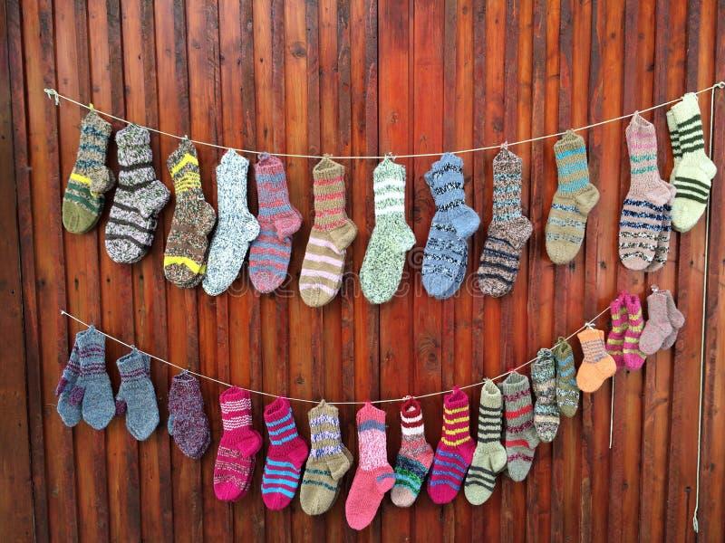 χέρι - γίνοντες κάλτσες στοκ εικόνα με δικαίωμα ελεύθερης χρήσης