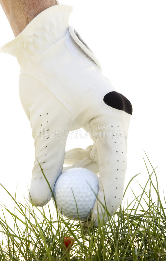 χέρι γκολφ σφαιρών που βάζ&ep στοκ εικόνες