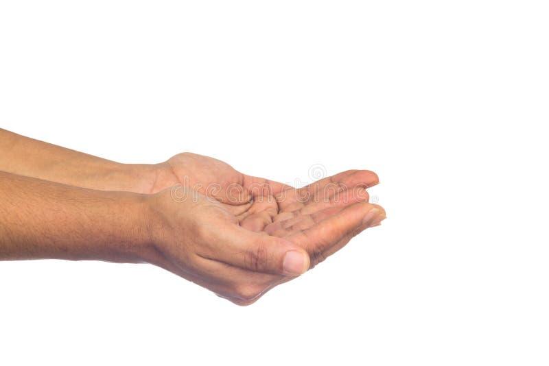 Χέρι γυναικών με το απομονωμένο υπόβαθρο στοκ φωτογραφία