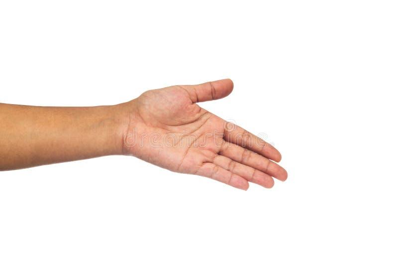 Χέρι γυναικών με το απομονωμένο υπόβαθρο στοκ εικόνες