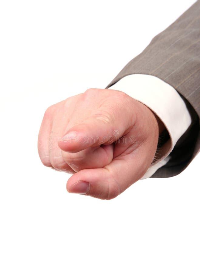 χέρι δάχτυλων επιχειρηματ στοκ φωτογραφία