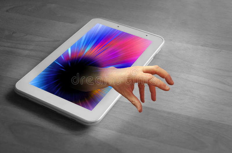 Χέρι Διαδικτύου στοκ εικόνες