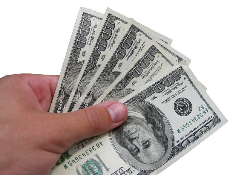χέρι δολαρίων στοκ εικόνα με δικαίωμα ελεύθερης χρήσης