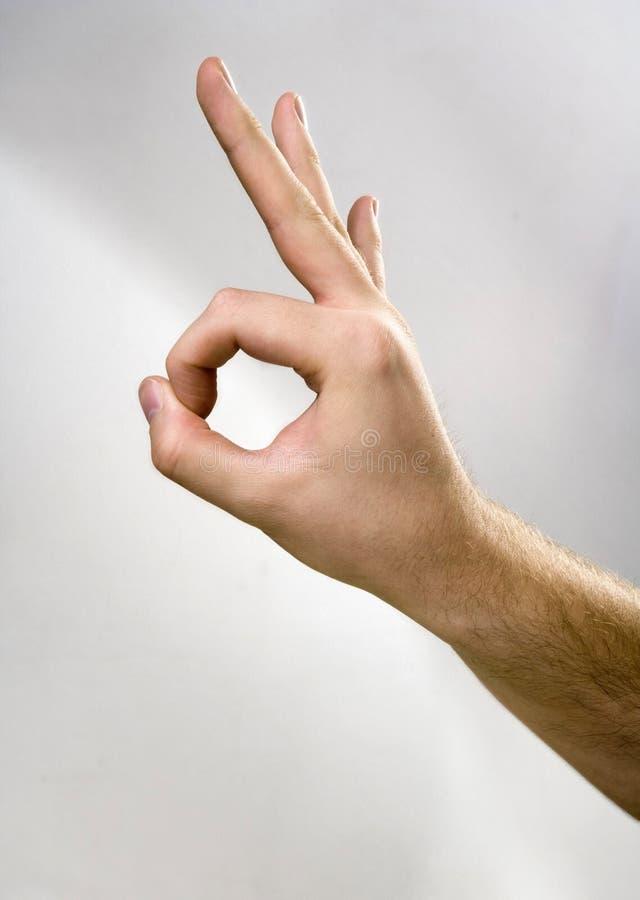χέρι εντάξει στοκ εικόνες