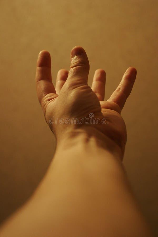 χέρι επάνω στοκ εικόνα