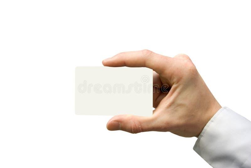 χέρι επαγγελματικών καρτώ& στοκ εικόνες