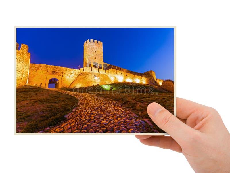 Χέρι και φρούριο Kalemegdan Βελιγράδι - Σερβία (η φωτογραφία μου) στοκ εικόνες με δικαίωμα ελεύθερης χρήσης