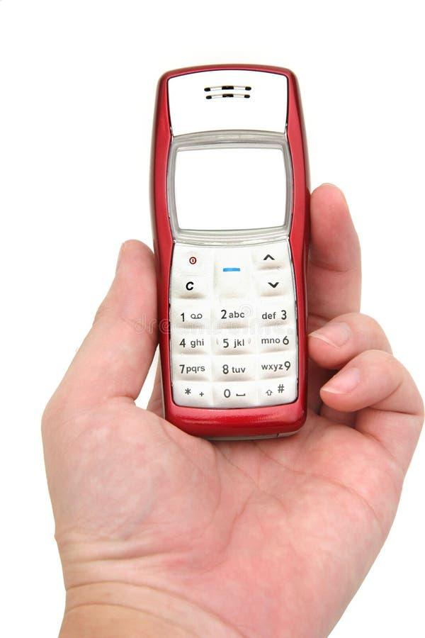 χέρι κινητών τηλεφώνων στοκ φωτογραφία με δικαίωμα ελεύθερης χρήσης
