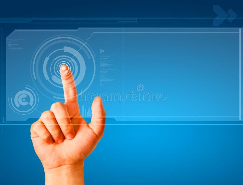χέρι κουμπιών σχετικά με διανυσματική απεικόνιση