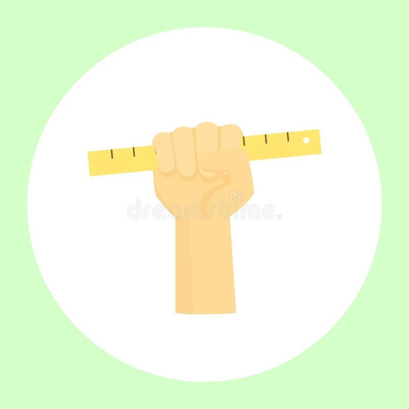 Χέρι με ένα εργαλείο διανυσματική απεικόνιση