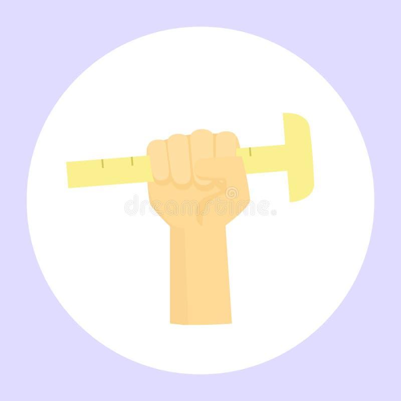 Χέρι με ένα εργαλείο ελεύθερη απεικόνιση δικαιώματος