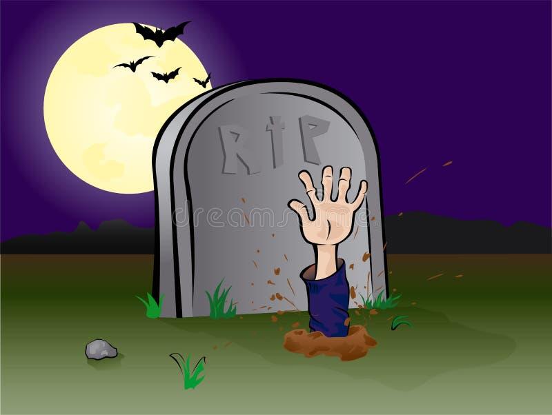 χέρι νεκροταφείων ελεύθερη απεικόνιση δικαιώματος