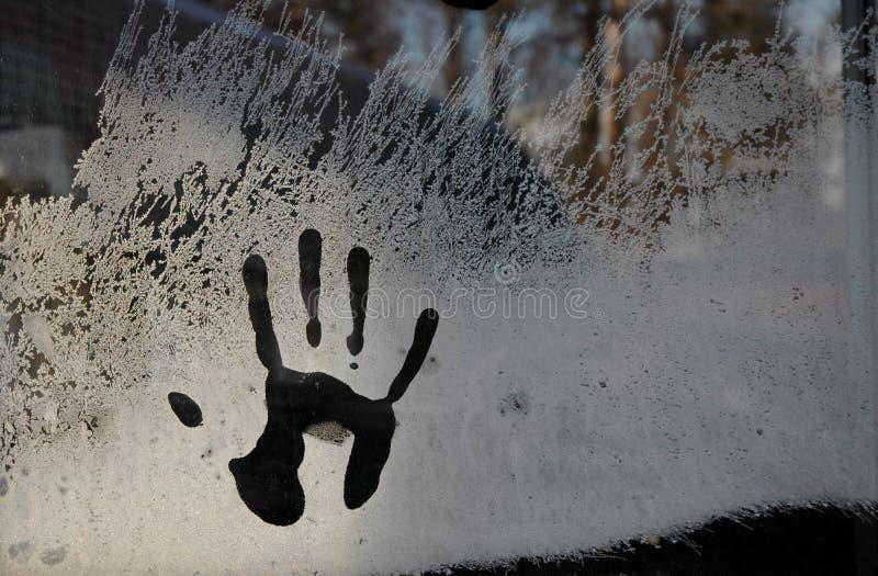 χέρι παγετού στοκ εικόνες με δικαίωμα ελεύθερης χρήσης