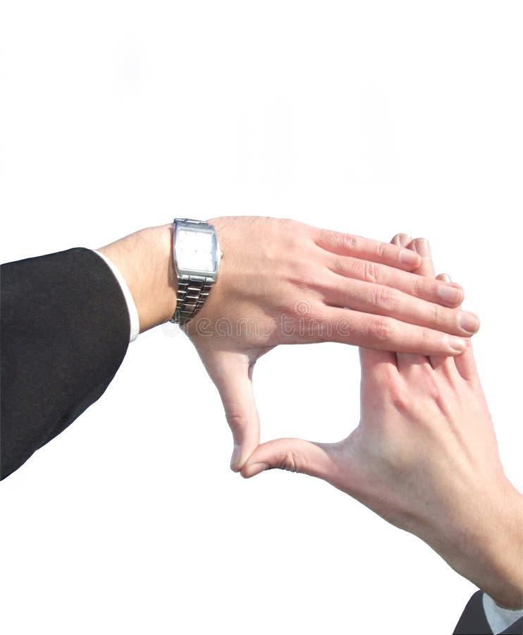 χέρι πλαισίων επιχειρηματ&i στοκ εικόνες