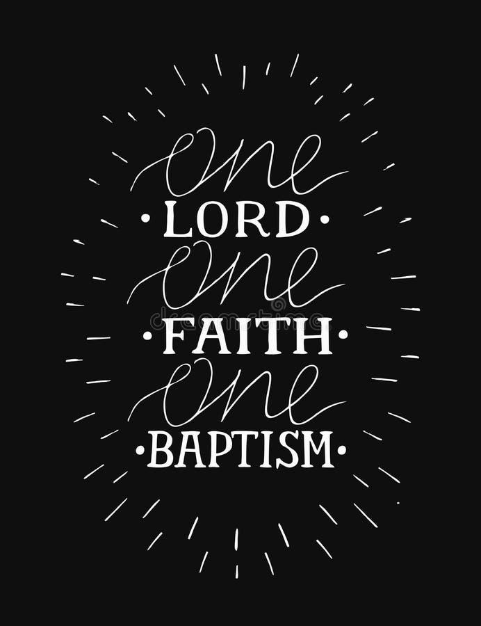 Χέρι που γράφει έναν Λόρδο, πίστη, βάπτισμα στο μαύρο υπόβαθρο ελεύθερη απεικόνιση δικαιώματος