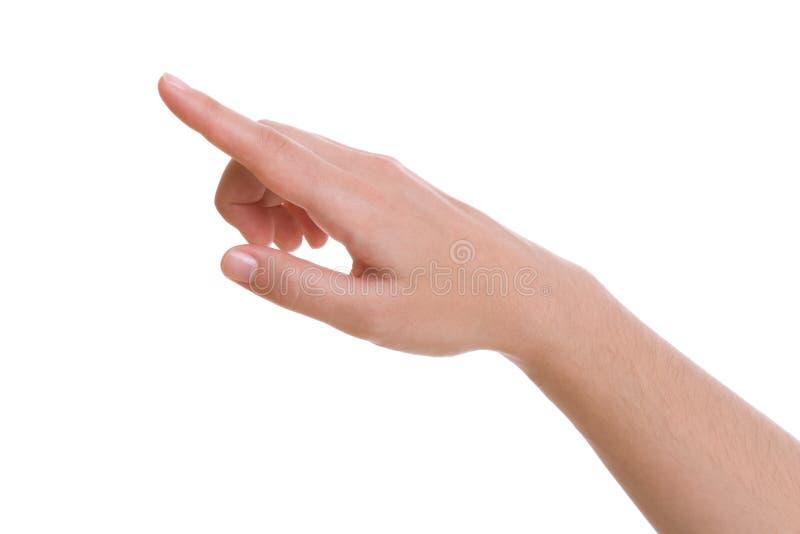 χέρι που δείχνει πατώντας ν& στοκ φωτογραφία με δικαίωμα ελεύθερης χρήσης