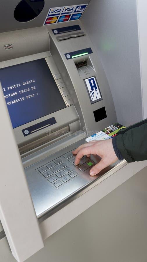 Μηχανή τράπεζας ATM στοκ φωτογραφία με δικαίωμα ελεύθερης χρήσης