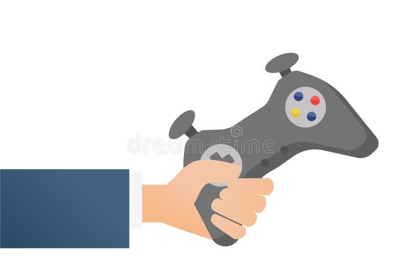 Χέρι που κρατά έναν ασύρματο ελεγκτή τυχερού παιχνιδιού ελεύθερη απεικόνιση δικαιώματος