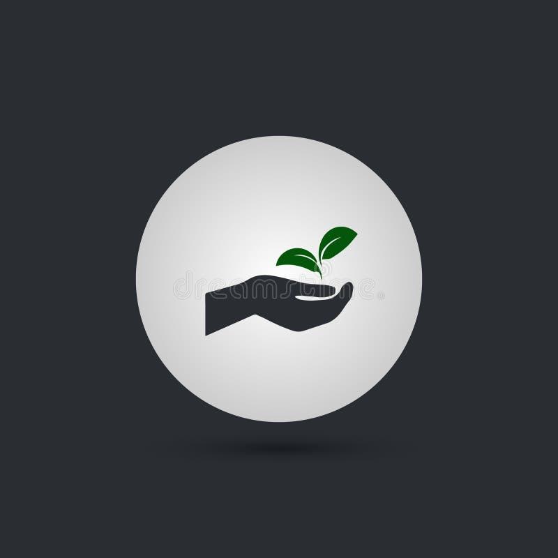 Χέρι που κρατά τις εγκαταστάσεις απεικόνιση αποθεμάτων