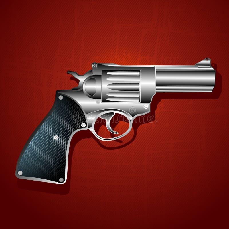 χέρι πυροβόλων όπλων ανασκό διανυσματική απεικόνιση